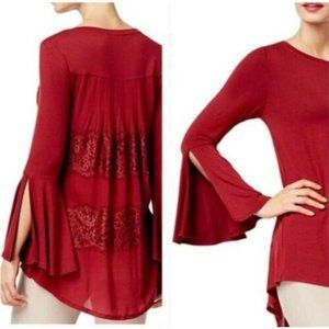 Olivia & Grace Tunic Knit Top Size XS Bell Sleeve